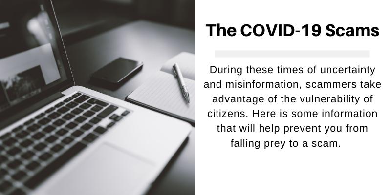 Beware of Coronavirus-related scams